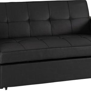Astoria Black Faux Leather Sofa Bed