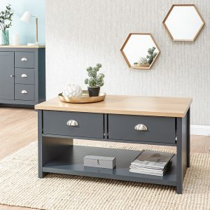 Lancaster Blue 2 Drawer Coffee Table