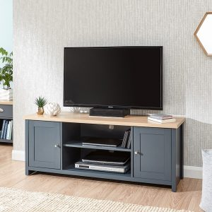 Lancaster Blue Large TV Unit