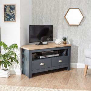 Lancaster Blue Corner TV Unit