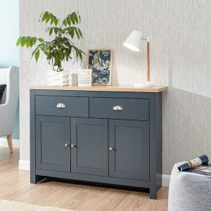 Lancaster Blue Large Sideboard