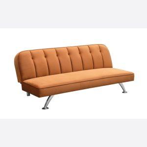 Brighton Orange Fabric Sofa Bed