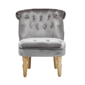 Charlotte Silver Occasional Chair