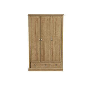 Devon Oak 3 Door Wardrobe