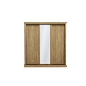Devon Oak 3 Door Sliding Wardrobe