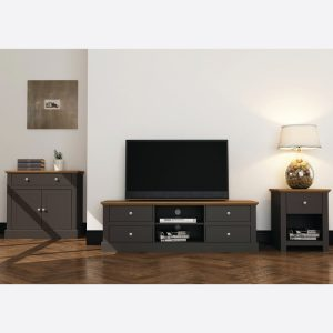 Devon Charcoal Living Room