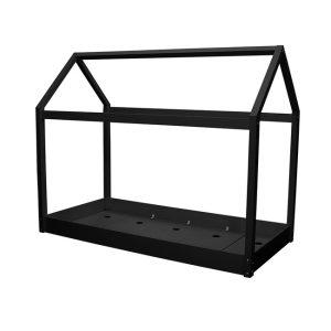 Hickory Black Canopy Bed Frame