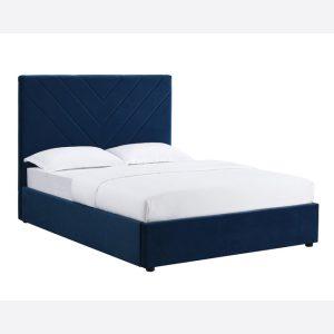 Islington Blue Fabric Bed