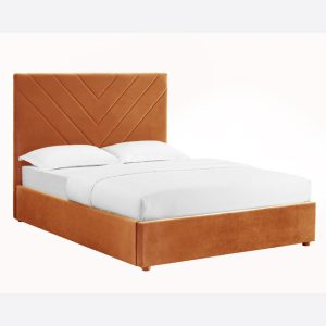 Islington Orange Fabric Bed Frame