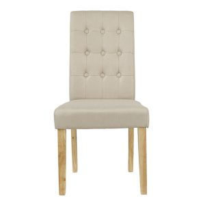 Roma Beige Fabric Dining Chairs