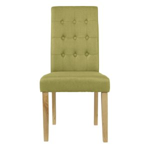 Roma Green Fabric Dining Chairs