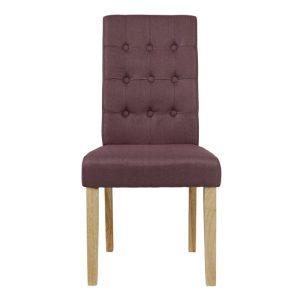 Roma Plum Fabric Dining Chairs