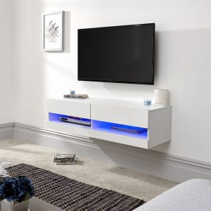Galicia White Wall Mounted Tv Stand