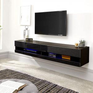 Galicia Black Wall Mounted Tv Stand