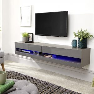 Galicia Grey Wall Mounted Tv Stand