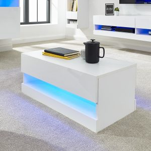 Galicia White Coffee Table