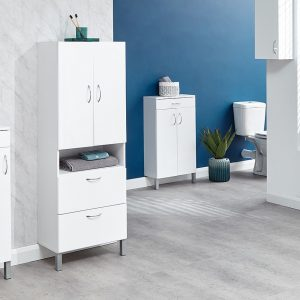 Mortiz 2 Door 2 Drawer Bathroom Cabinet