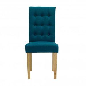 Roma Teal Fabric Dining Chairs