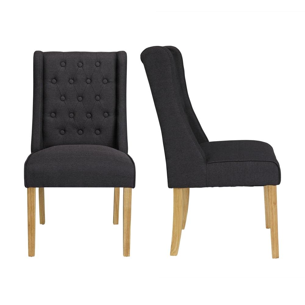 Verona Charcoal Fabric Chairs