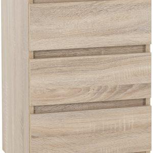 Malvern Oak 3 Drawer Bedside