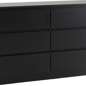 Malvern Black 6 Drawer Chest