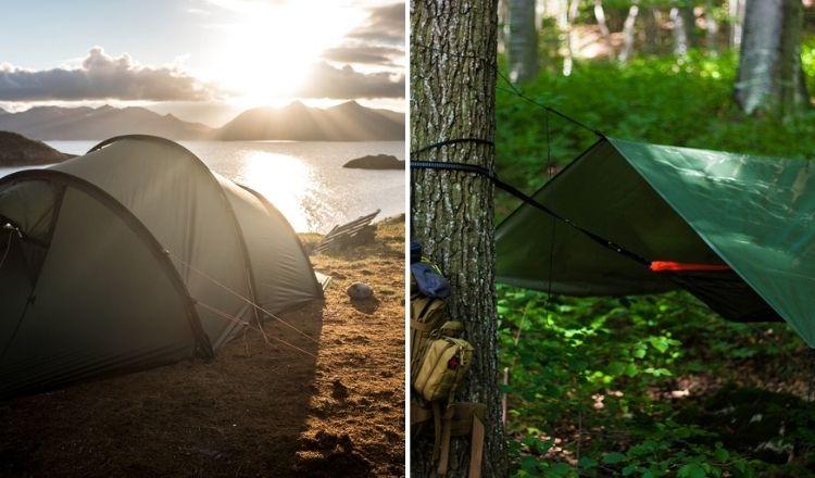 tält eller tarp