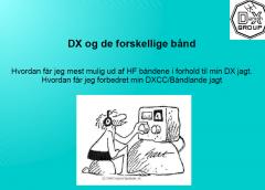 """Foredrag om """"DX og de forskellige bånd"""".Foredrag 13. august 2020"""