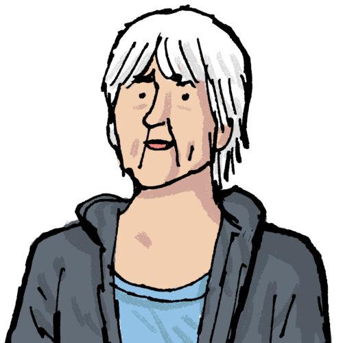 Elisabeth Helms, tecknad av Alfonso Zapico