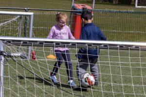 Woensdagmiddag 14 april Pancratius training van de jongste jeugd