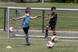 Woensdagmiddag 9 juni Pancratius training van de jongste jeugd