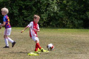 Woensdagmiddag 16 juni Pancratius training van de jongste jeugd