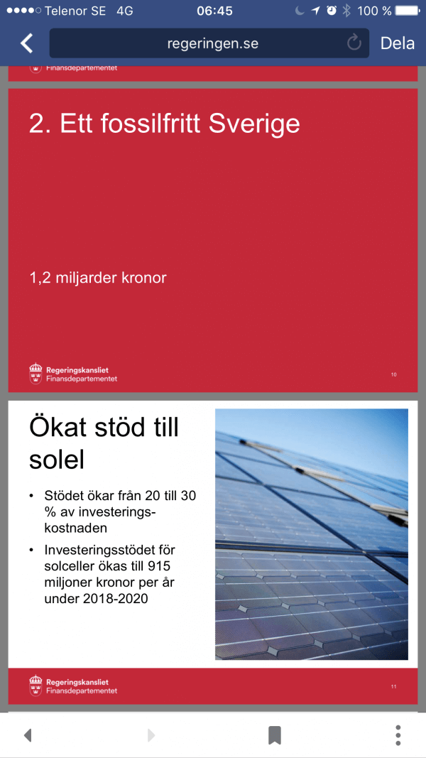 Fossilfritt sverige solenergi
