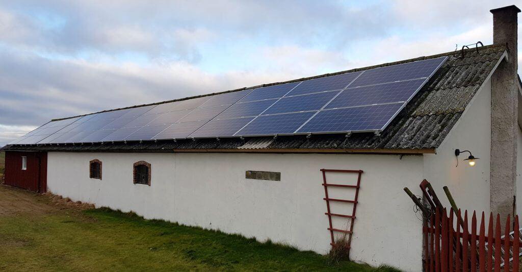 lantbruks fastighet solpaneler