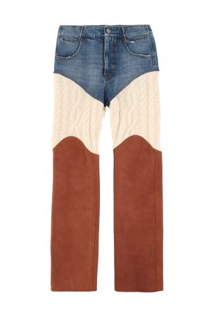 Telfar 3 panel denim pants