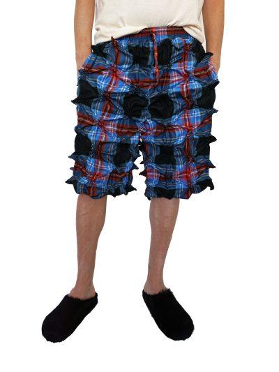 Charles Jeffrey tartan shorts