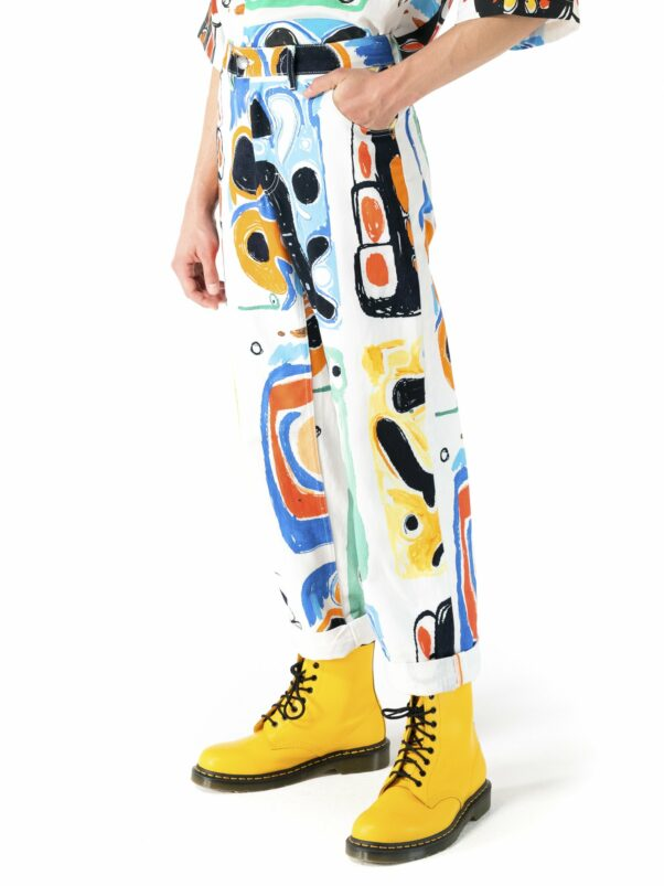 Charles Jeffrey Mens art denim jean from the SS21 collection