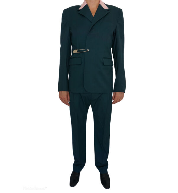 Charles Jeffrey Loverboy Green suit trousers