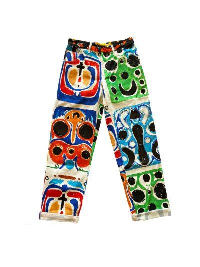 Charles Jeffrey Mens art denim jean