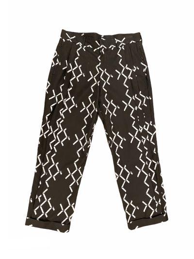 Black geometric shapes trousers