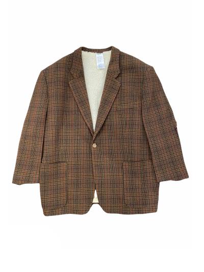 magliano check oversized blazer