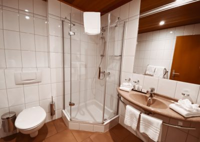 Park Hotel Kelmis La Calamine Badezimmer mit Dusche + Föhn