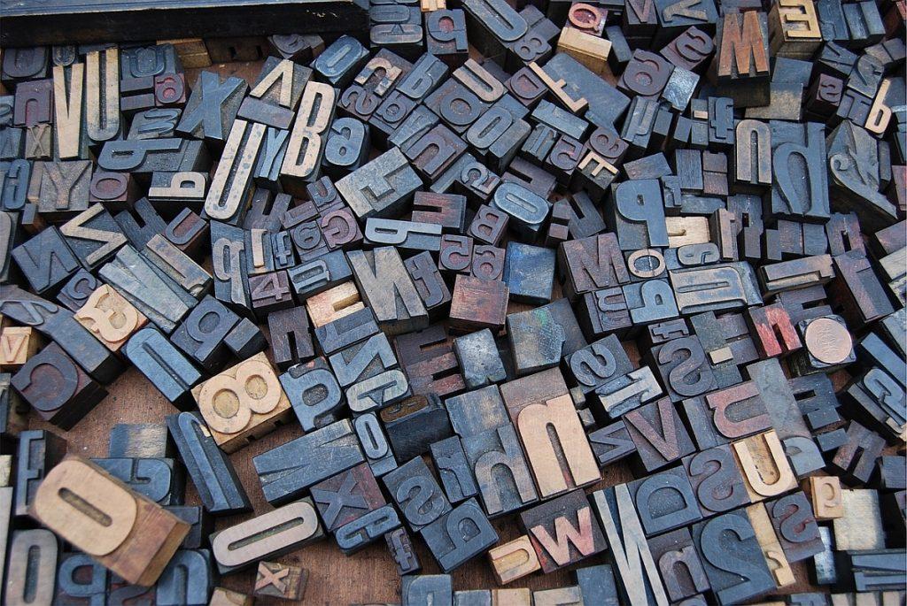 bild av olika sorters tryktyper