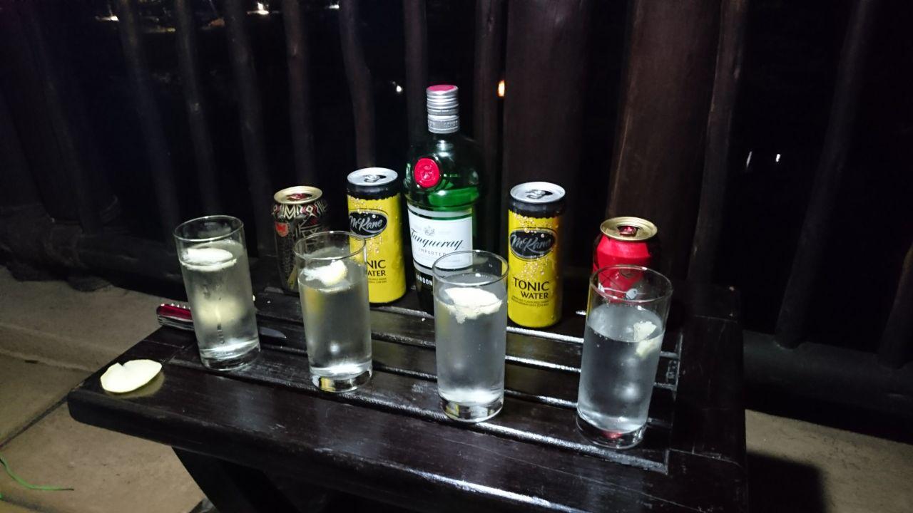 Gin Tonic und Bier The Kingdom Victoria Falls Zimbabwe