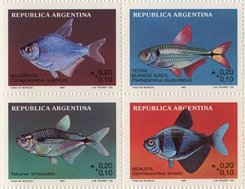 Characiformes stamp