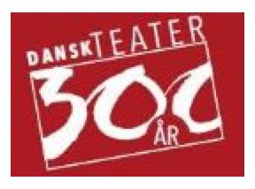 Logo for Dansk Teater 300 år