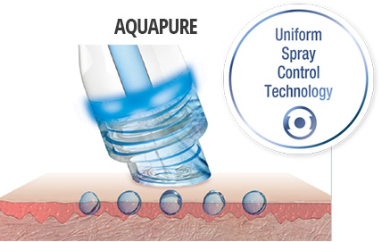 spray technologie 2 - Aquapure Kosmetik Behandlung