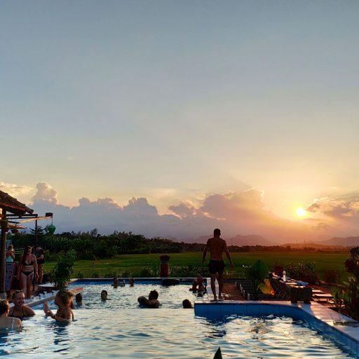 Phong Nha Farmstay Poolside beer & garden