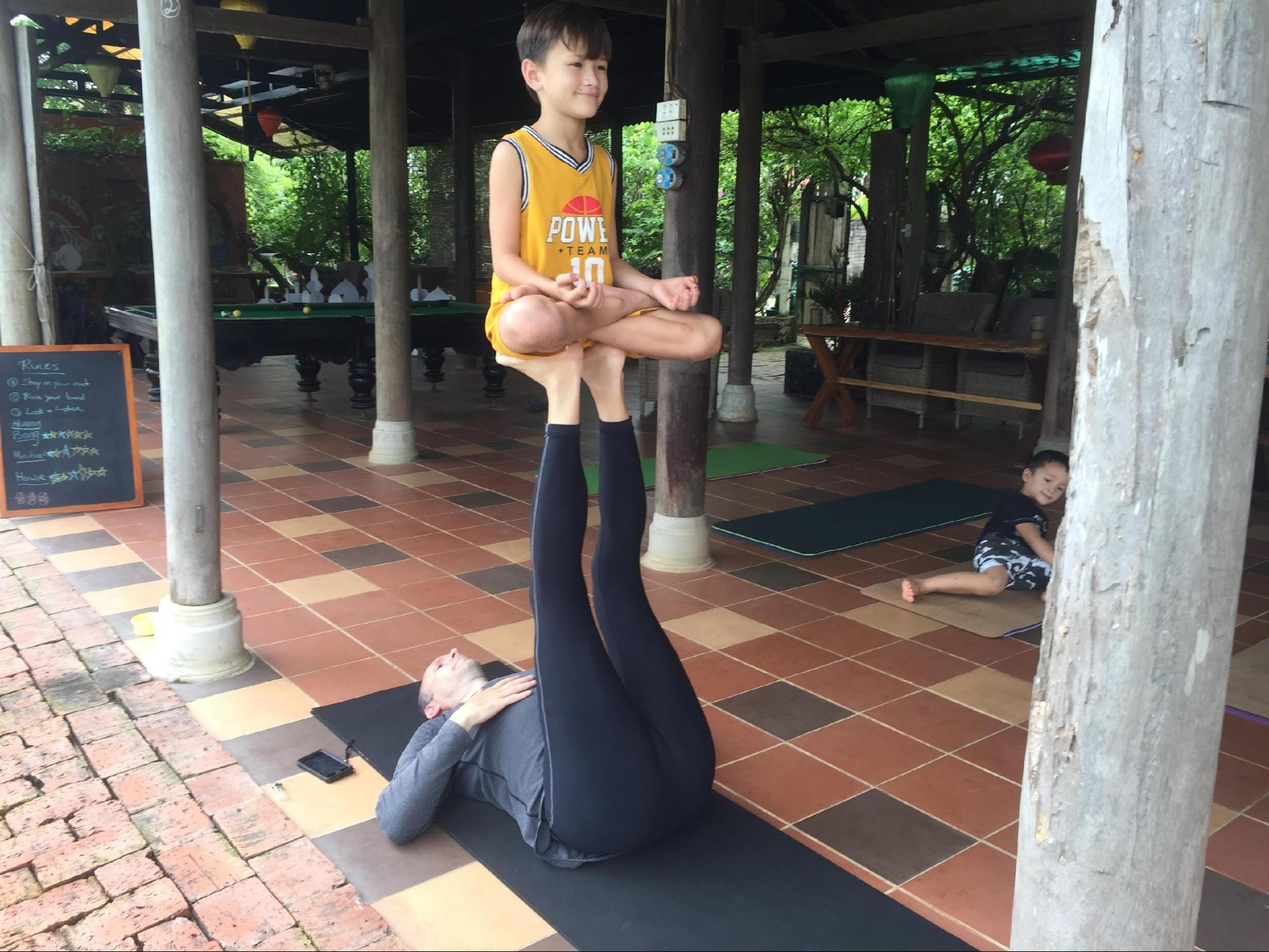 Yoga is for everyone at Phong Nha Farmstay.