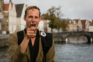 Andy McSweeney in action as Photo Tour Brugge.