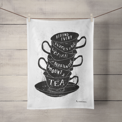 Tea Quote illustration tea towel